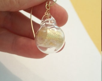 gold scroll earrings