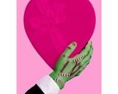 frankenstein print monster love 8 x 10 FRANKENTEIN