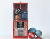 Vintage Gumball Machine, Northwestern Red Gumball Machine