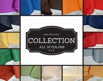 100% Merino Wool Felt, Wool Felt Sample Pack, 100 Wool Felt, Wool Felt Fabric, Wool Felt Sheets, Natural Wool Felt, Felt Sample Pack