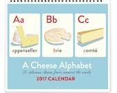 2017 Cheese Alphabet A-Z Calendar (13 months)