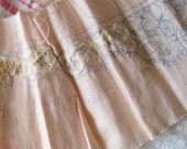 Unworked Treasures...2 Vintage Pale Pink Battenburg Lace Doily & Trim Patterns