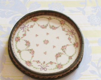 Right at Home on the Tea Table...Pretty Old China Trivet