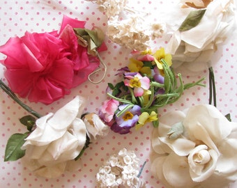 Beautiful Blooms...Lot of Yummy Vintage Millinery Flower Trims