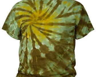 Tie Dye Green and Yellow Swirl