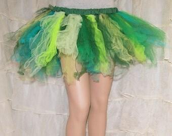 Ragged Marathon Runner Neon Green TuTu Skirt adult Medium MTCoffinz - Ready to Ship