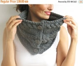 CLEARANCE 50% Dark Gray Cowl - Scarf by Afra