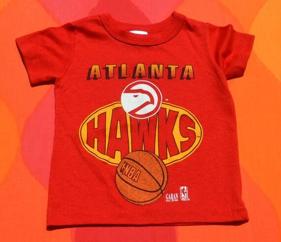 Vintage 90s kid 39 s t shirt atlanta hawks nba basketball tee for Nba basketball t shirts