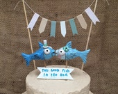 Custom Fish Cake topper with bunting and banner