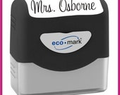 Custom Name Signature stamps self inking rubber STAMPS MADE FAST in larger size--156