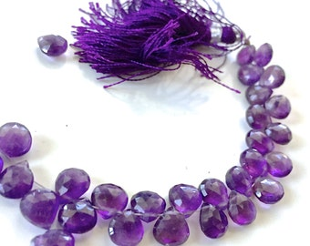 1/2 strand amethyst hearts WHOLESALE PRICE 28.00