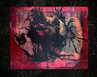 Danger Mask on 8x10 Canvas Board