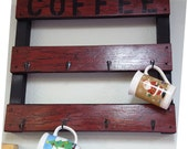 You CHOOSE Coffee Mug Rack... Awesome Addition to anyone's Kitchen / Work space Your CHOICE of Colors