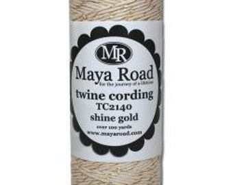 Maya Road Twine Cording Shine Gold-3 yards
