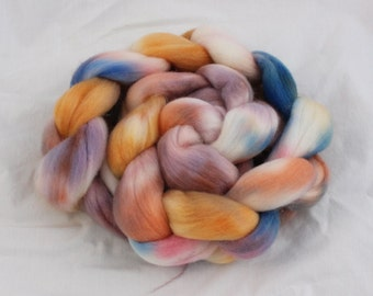 Also Peach Schnapps on Organic Polwarth - Hand Dyed Spinning Fiber