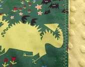 Custom Dragon Baby Shower Package - Blanket and Burp Cloth