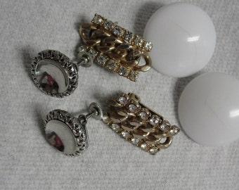 Trio of Vintage Clip Earrings