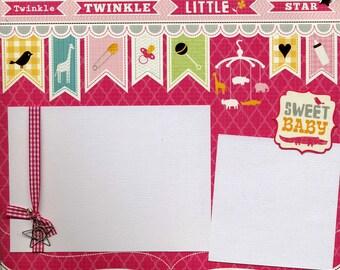 Twinkle Twinkle Little Star - 12x12 Premade Baby Scrapbook Page