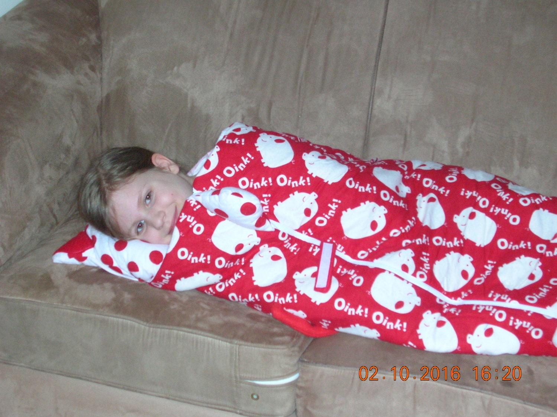 Pig critter sleeping bag child sleeping bag toddler nap sack