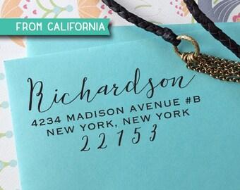 CUSTOM ADDRESS STAMP - Self inking Stamp, Rubber Stamp, Return Address stamp, Personalized Stamp, rsvp Address Stamp, Wedding Stamp 311