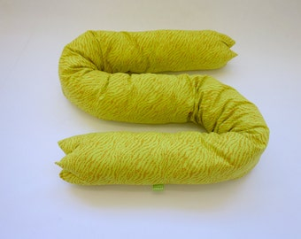 tube pillow 1 extra long bolster in pink and neon yellow. Black Bedroom Furniture Sets. Home Design Ideas