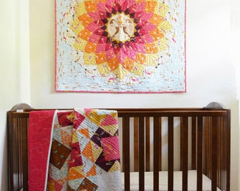 SALE 20% Off Windham Baum ANEMOME Quilt & Pillow Case Fabric Kit w/ Mendocino by Heather Ross