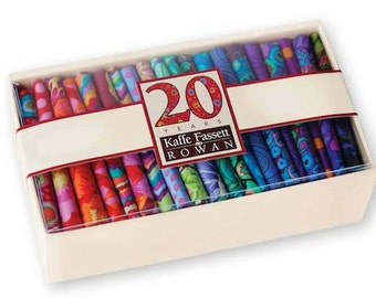 Kaffe Fassett 20TH ANNIVERSARY Fat Quarters 20 Precut Fabric Quilting FQs Westminster Fibers Rowan