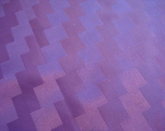 """Embossed Zig Zag Purple Satin Fabric 1 1/2 yards by 36"""" Wide"""
