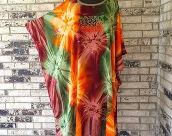 Lightweight Rayon Embroidered Autumn Caftan