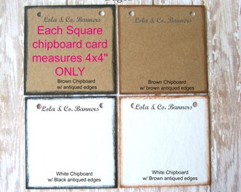 Color Chart, Chipboard cards measure 4x4 inches ONLY, MeAsUrE BeFoRe YoU OrDeR, Custom Color Options, Viewing Purposes only, Do Not Purchase
