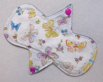 "7.25"" Butterflies - Reusable Cloth Menstrual Pad (7MC)"