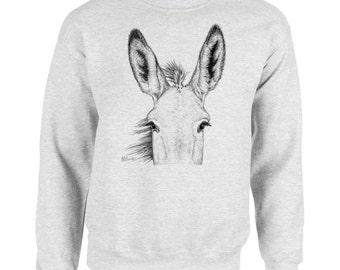 Burro Ears Donkey Mule Art Men's Sweatshirt Small - 2XL