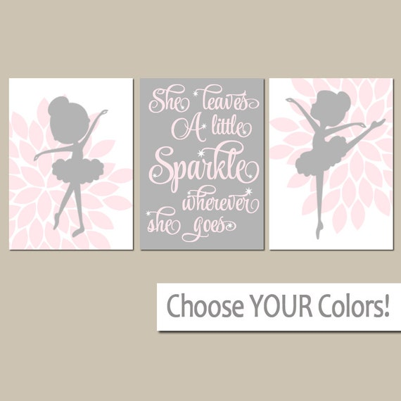 BALLERINA Wall Art CANVAS Or Prints She Leaves A Little