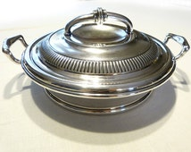 SALE! PAIRPOINT 2454 8 Antique Ornate Silver Plate Round Vegetable Casserole Serving Dish