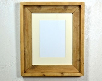 Picture frame 8 x 10 with 5 x 7 or 8 x 6 mat from reclaimed wood