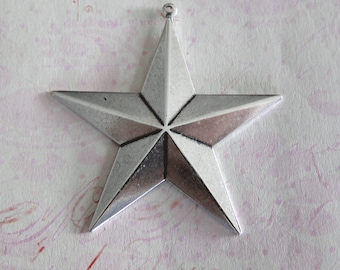 Large Silver Star Charm 1470