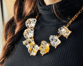 Vintage 1950s Ice Cube Necklace