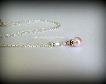 Pearl Bridesmaid Necklace: Bridesmaid Jewelry, Wedding Pearl Necklace, Wedding Jewelry, Bridal Party Necklace, Jewellery for Brides, Bride
