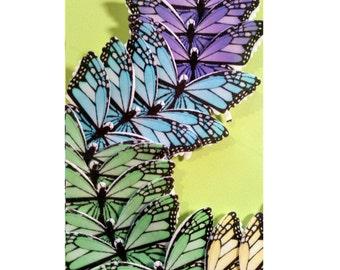 Edible Butterflies, Wafer Cake Decorations ,cupcake toppers,cookie toppers,cake decoration, Quantity 20