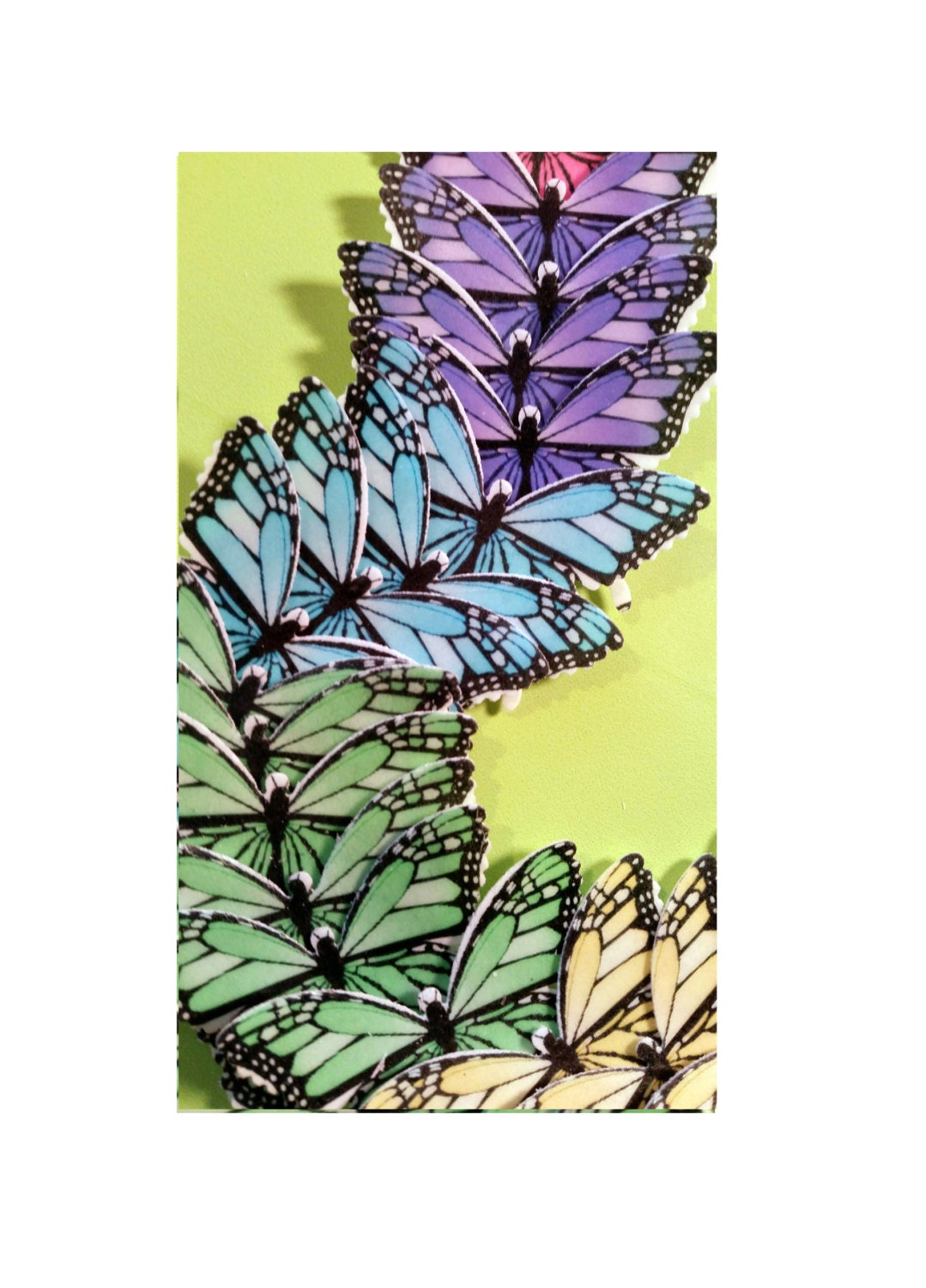 Butterfly Wafers Cake Decoration : Edible Butterflies Wafer Cake Decorations cupcake