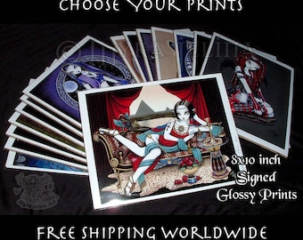 Choose Your Prints Free Shipping Worldwide 8x10 inch Myka Jelina Art