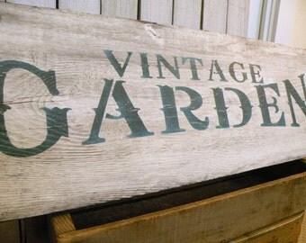 Vintage Garden cottage wood sign Farmhouse Rustic Prairie Farm ECS RDT FVGteam