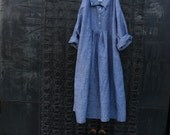 ON SALE Grey Stone Washed Linen Dresss