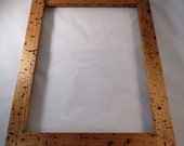 11x14 Butter Nut Picture Frame with worm tracking BN