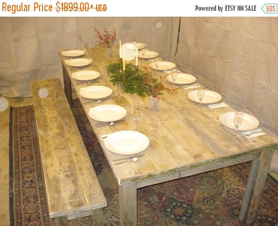 Dbd driftwood dining room table 108l x 44w x by for 108 inch dining room table