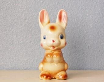 1950s Pottery Bunny Rabbit Vintage Easter Figurine