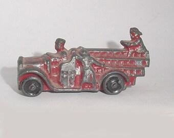 Antique -Toy - Fire Truck - Great Little Oldie -Heavy Metal Type -Cutie