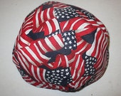 USA flag kippah patriotic Amercian flags yarmulke -- toddler or regular sizing--great gift for your special someone