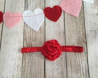 Simple Rolled Satin Rose Headband