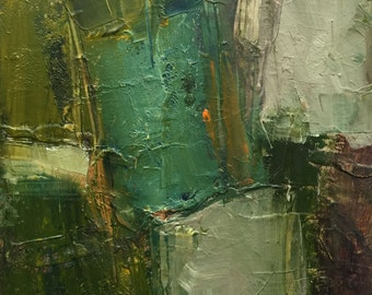 Oil Painting Abstract Original Panel Expressionism Colette Davis  BOOK CLUB